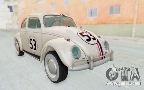 Volkswagen Beetle 1200 Type 1 1963 Herbie for GTA San Andreas
