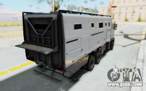 GTA 5 HVY Brickade IVF for GTA San Andreas left view