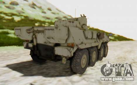 MGSV Phantom Pain STOUT IFV APC Tank v2 for GTA San Andreas left view