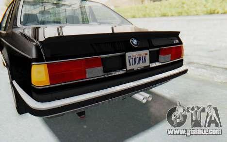 BMW M635 CSi (E24) 1984 IVF PJ3 for GTA San Andreas interior