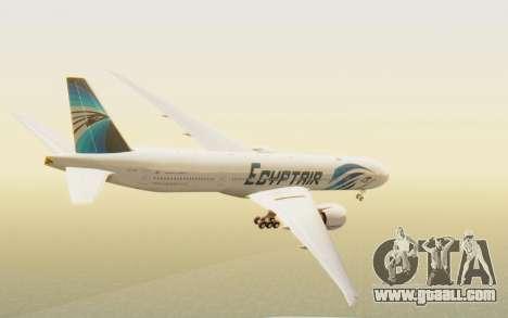 Boeing 777-300ER EgyptAir for GTA San Andreas left view