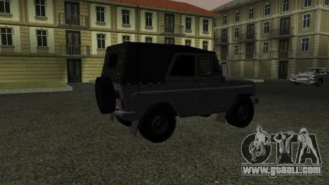 UAZ-469 for GTA San Andreas back view