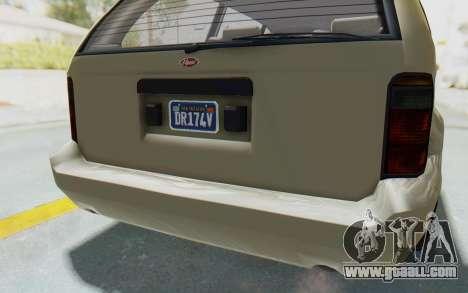 GTA 5 Vapid Minivan Custom without Hydro IVF for GTA San Andreas bottom view