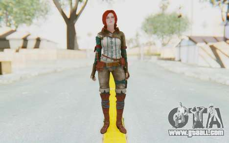 The Witcher 3 - Triss Merigold WildHunt Outfit for GTA San Andreas second screenshot