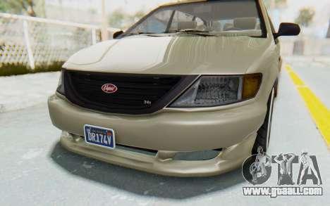 GTA 5 Vapid Minivan Custom without Hydro IVF for GTA San Andreas side view