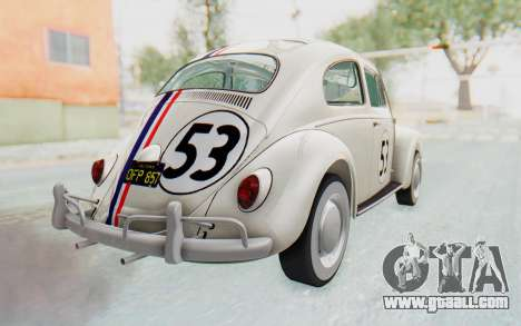 Volkswagen Beetle 1200 Type 1 1963 Herbie for GTA San Andreas left view