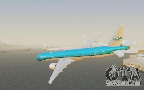 Boeing 777-300ER KLM - Royal Dutch Airlines v2 for GTA San Andreas left view