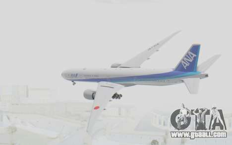 Boeing 777-300ER ANA JA735A for GTA San Andreas right view