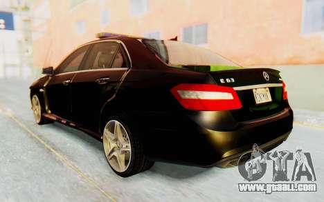 Mercedes-Benz E63 German Police Green for GTA San Andreas left view