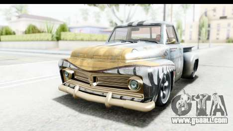 GTA 5 Vapid Slamvan without Hydro IVF for GTA San Andreas bottom view