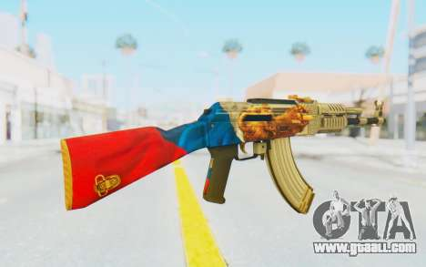 AK-47A1 Russian Flag for GTA San Andreas third screenshot