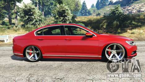 GTA 5 Volkswagen Passat Highline B8 2016 Stanced left side view