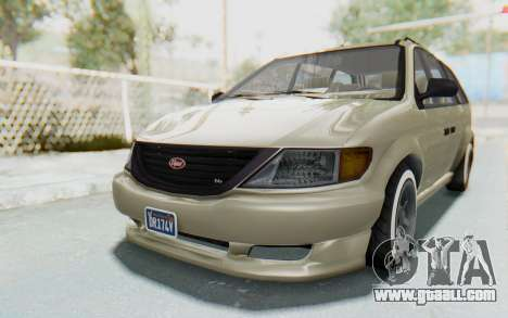GTA 5 Vapid Minivan Custom without Hydro IVF for GTA San Andreas back left view