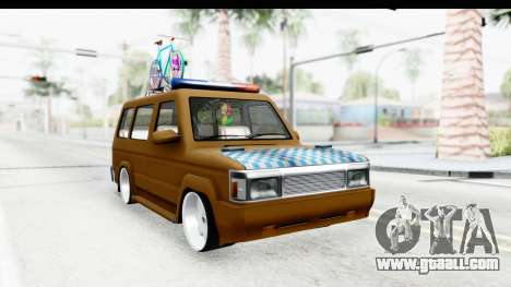 Toyota Kijang Grand Extra with Bike for GTA San Andreas