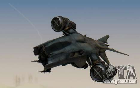 HK Aerial from Terminator Salvation for GTA San Andreas back left view