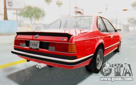 BMW M635 CSi (E24) 1984 IVF PJ2 for GTA San Andreas back left view
