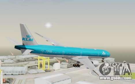 Boeing 777-300ER KLM - Royal Dutch Airlines v3 for GTA San Andreas left view