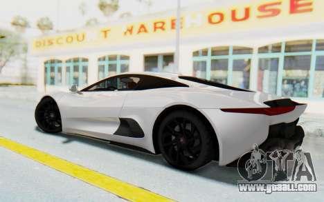 Jaguar C-X75 for GTA San Andreas left view