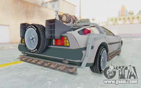 DeLorean DMC-12 2012 End Of The World for GTA San Andreas right view