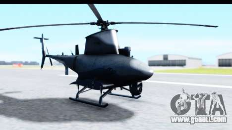Northrop Grumman MQ-8B Fire Scout for GTA San Andreas back left view