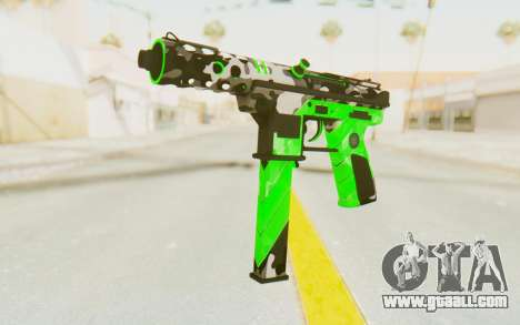 Tec-9 Neural Green for GTA San Andreas