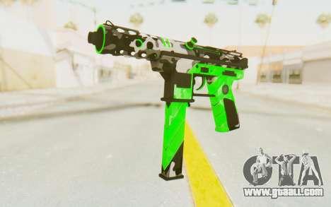 Tec-9 Neural Green for GTA San Andreas