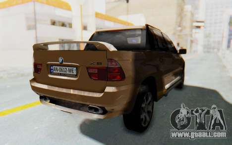 BMW X5 Pickup for GTA San Andreas back left view