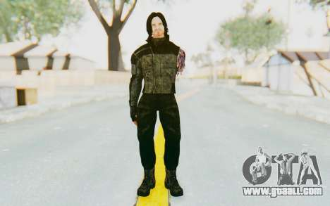 Bucky Barnes (Winter Soldier) v2 for GTA San Andreas second screenshot