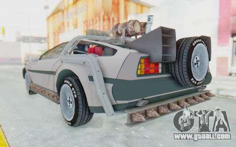 DeLorean DMC-12 2012 End Of The World for GTA San Andreas left view