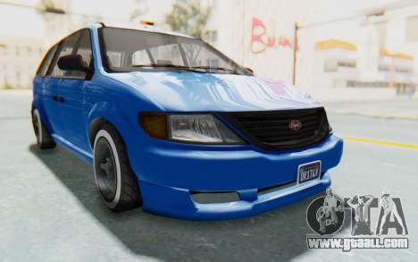 GTA 5 Vapid Minivan Custom for GTA San Andreas right view