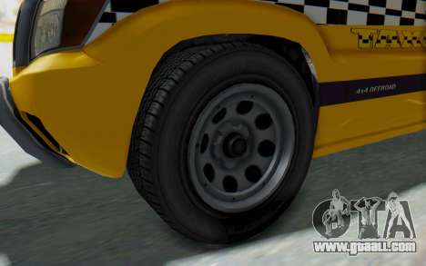 Canis Seminole Taxi for GTA San Andreas back view