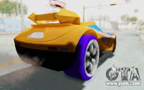 Hot Wheels AcceleRacers 4 for GTA San Andreas back left view