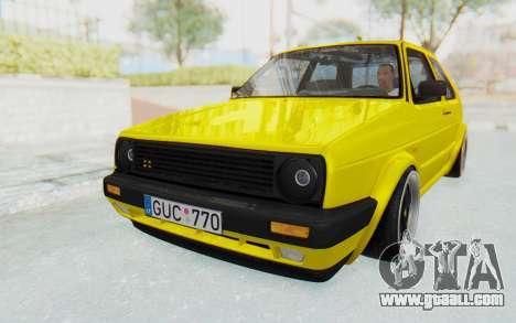 Volkswagen Golf Mk2 Lemon for GTA San Andreas