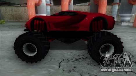 GTA V Vapid FMJ Monster Truck for GTA San Andreas right view