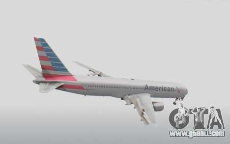 Boeing 767-300ER American Airlines for GTA San Andreas right view