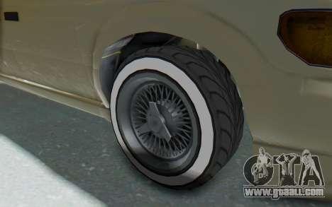 GTA 5 Vapid Minivan Custom without Hydro IVF for GTA San Andreas back view