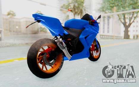 Kawasaki Ninja 250R Streetrace for GTA San Andreas back left view