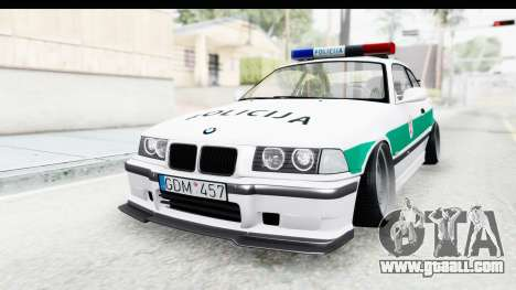 BMW M3 E36 Stance Lithuanian Police for GTA San Andreas right view