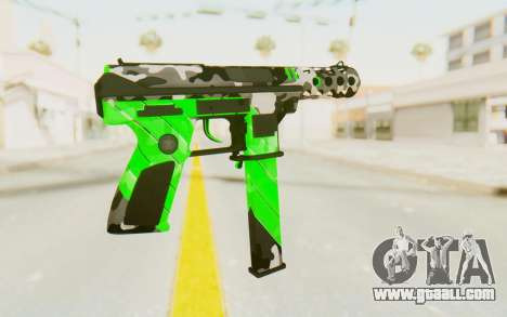 Tec-9 Neural Green for GTA San Andreas second screenshot