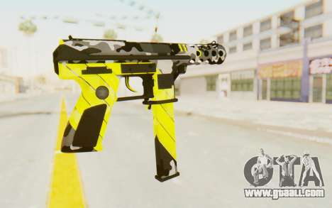 Tec-9 Neural Yellow for GTA San Andreas second screenshot