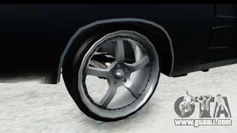 Dodge Charger Daytona F&F for GTA San Andreas back view