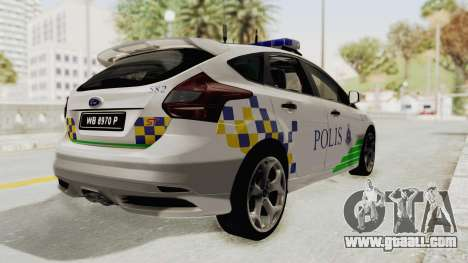 Ford Focus ST 2013 PDRM for GTA San Andreas left view