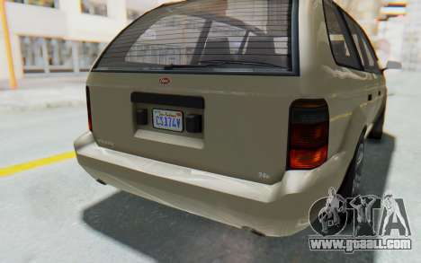 GTA 5 Vapid Minivan IVF for GTA San Andreas upper view
