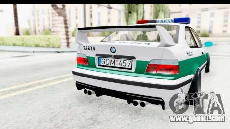 BMW M3 E36 Stance Lithuanian Police for GTA San Andreas side view