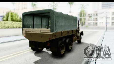 AM General M35A2 Sand for GTA San Andreas back left view