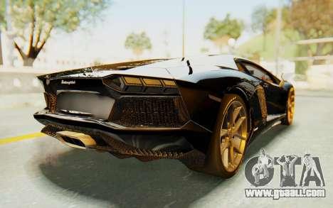 Lamborghini Aventador LP700-4 Light Tune for GTA San Andreas back left view