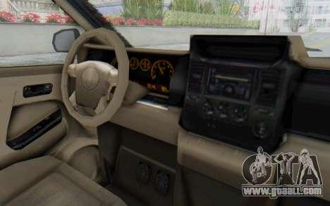 GTA 5 Vapid Minivan Custom without Hydro for GTA San Andreas inner view