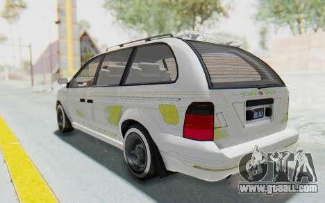 GTA 5 Vapid Minivan Custom without Hydro for GTA San Andreas interior