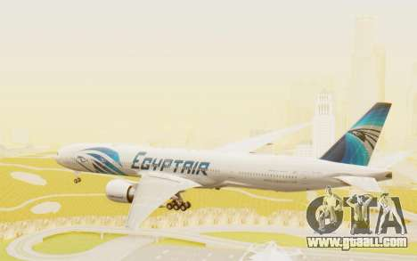 Boeing 777-300ER EgyptAir for GTA San Andreas right view