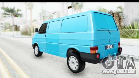 Volkswagen T4 for GTA San Andreas back left view